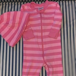 Hanna Andersson baby pjs w/hat